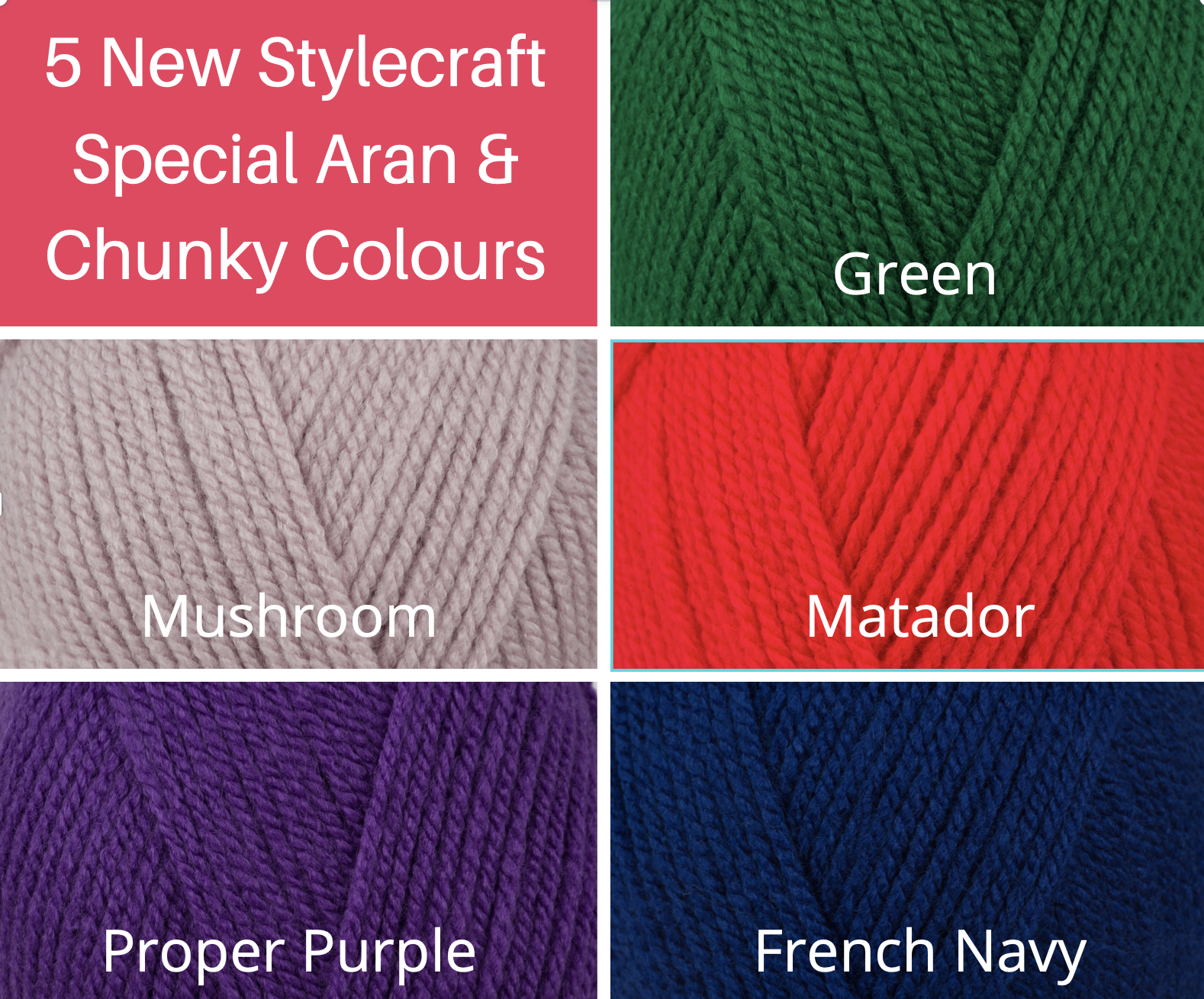 5 New Stylecraft Special Colours featured image