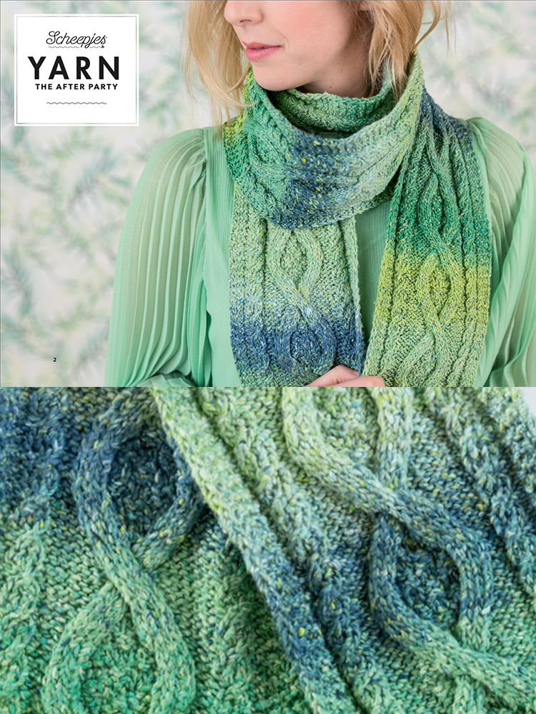 Scheepjes Knitting Pattern 12: Mossy Cabled Scarf product image