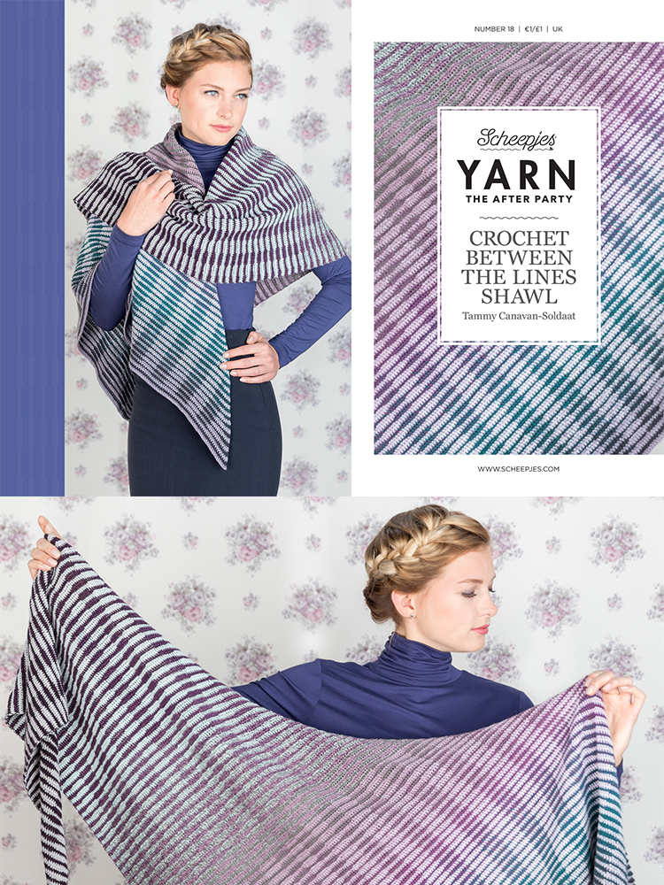 Scheepjes Crochet Pattern 17: Crochet Between the Lines Shawl product image