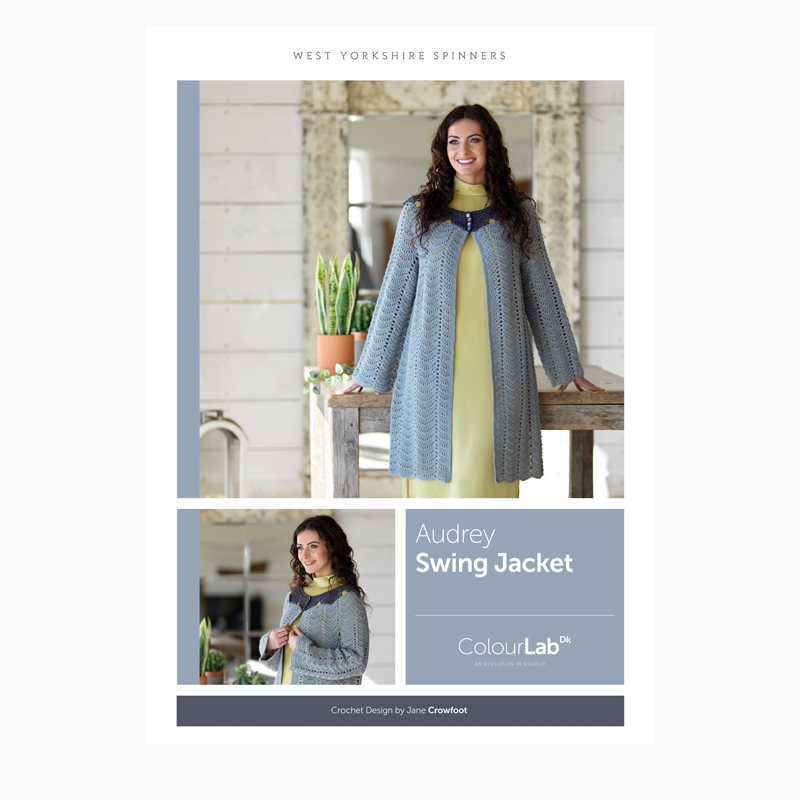 West Yorkshire Spinners ColourLab DK – Audrey Swing Jacket Crochet Pattern product image