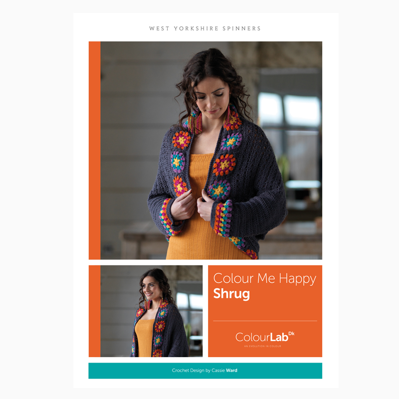 West Yorkshire Spinners ColourLab DK – Colour Me Happy Shrug Crochet Pattern product image
