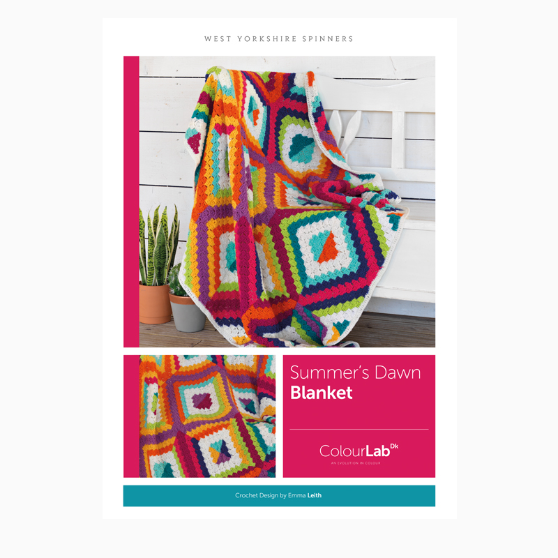 West Yorkshire Spinners ColourLab DK – Summer's Dawn Corner to Corner Blanket Crochet Pattern product image