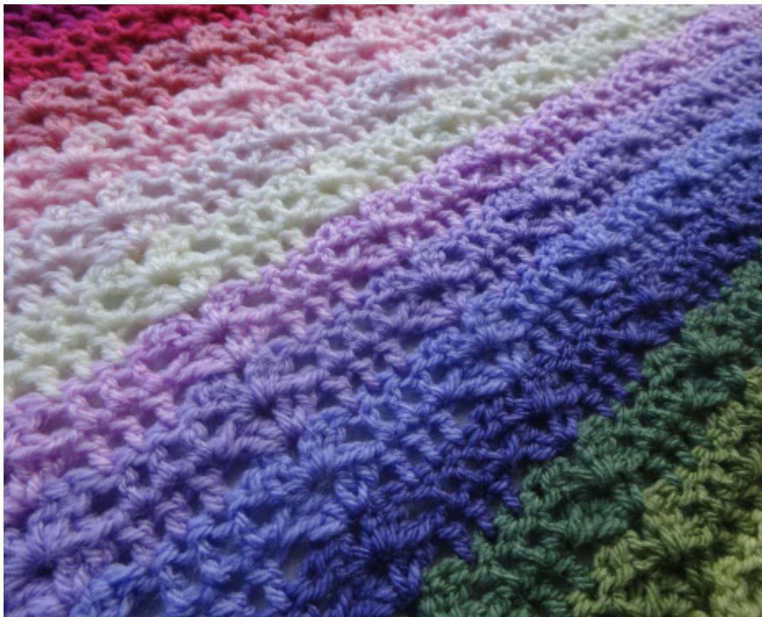 Attic24 Sweet Pea Crochet Blanket Kit (Yarn Only) product image
