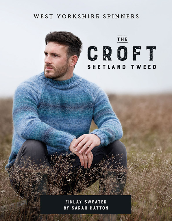 West Yorkshire Spinners The Croft Wild Shetland Aran Roving – Finlay Sweater Pattern product image