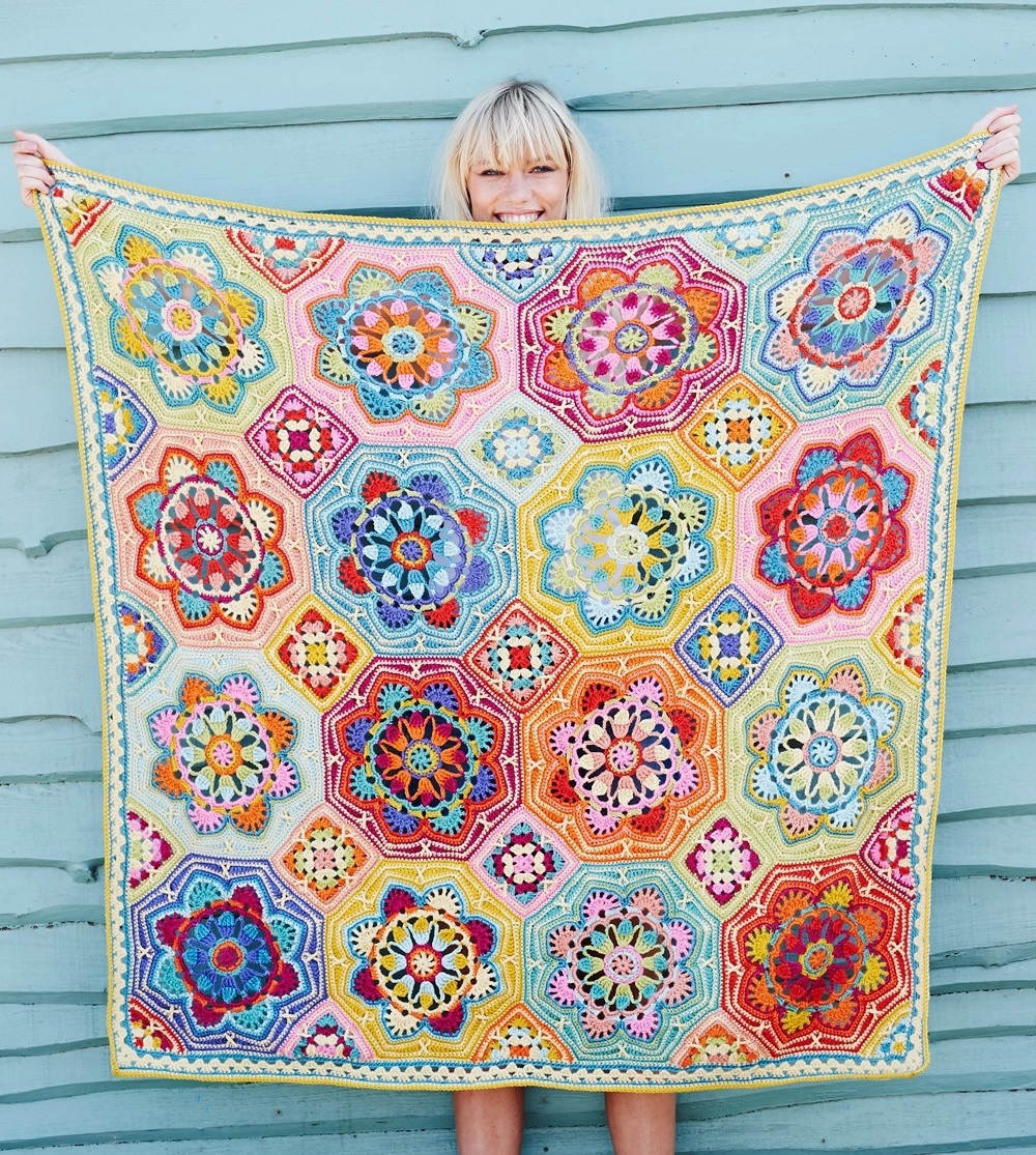 Persian Tiles – Eastern Jewels Blanket Kit Janie Crow (Yarn Only) product image