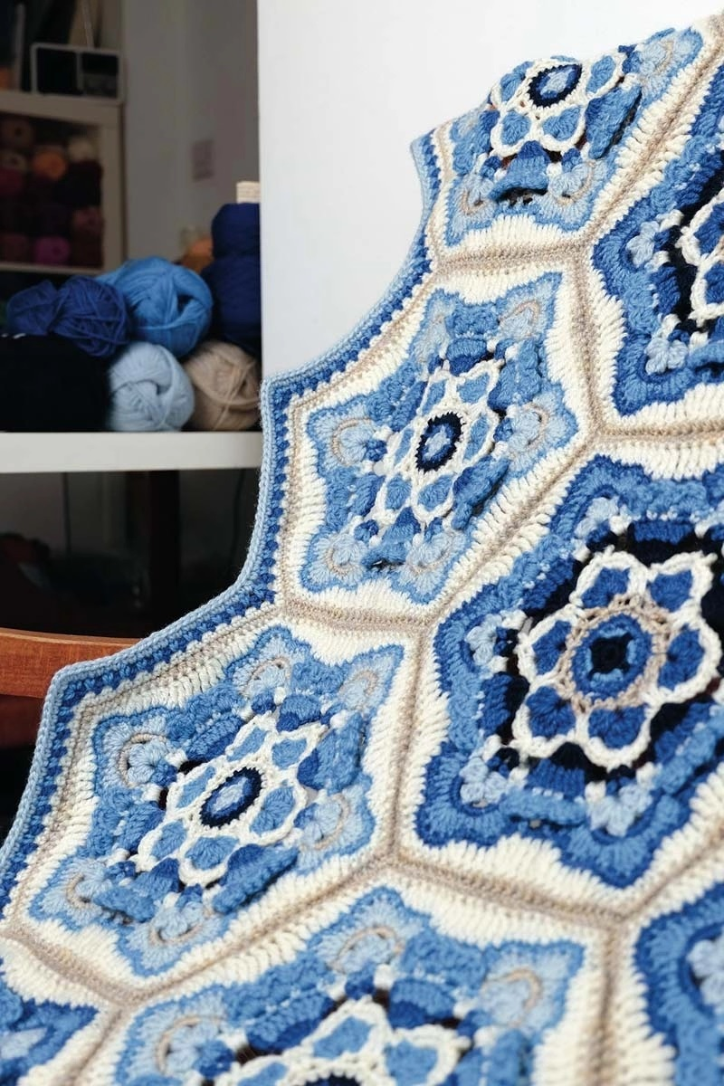 Delft Blanket Kit – Janie Crow (Yarn Only) product image