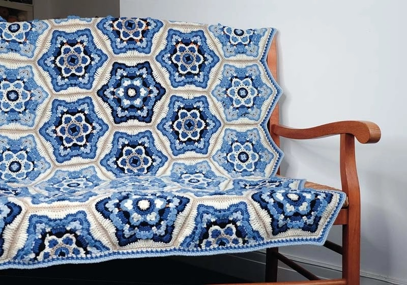 Delft Crochet Blanket Pattern – Janie Crow product image