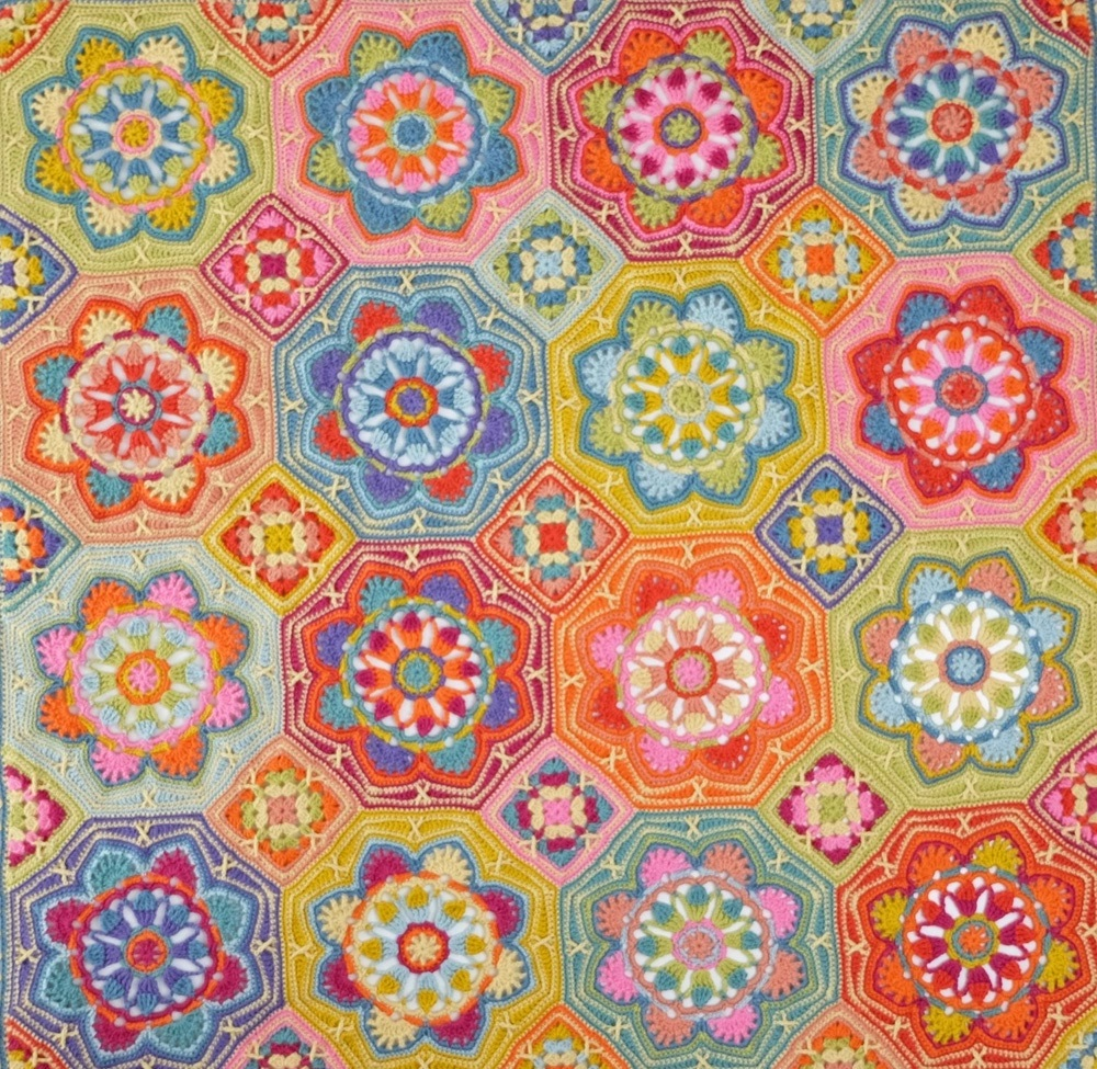Persian Tiles – Eastern Jewels Crochet Blanket Pattern – Janie Crow product image