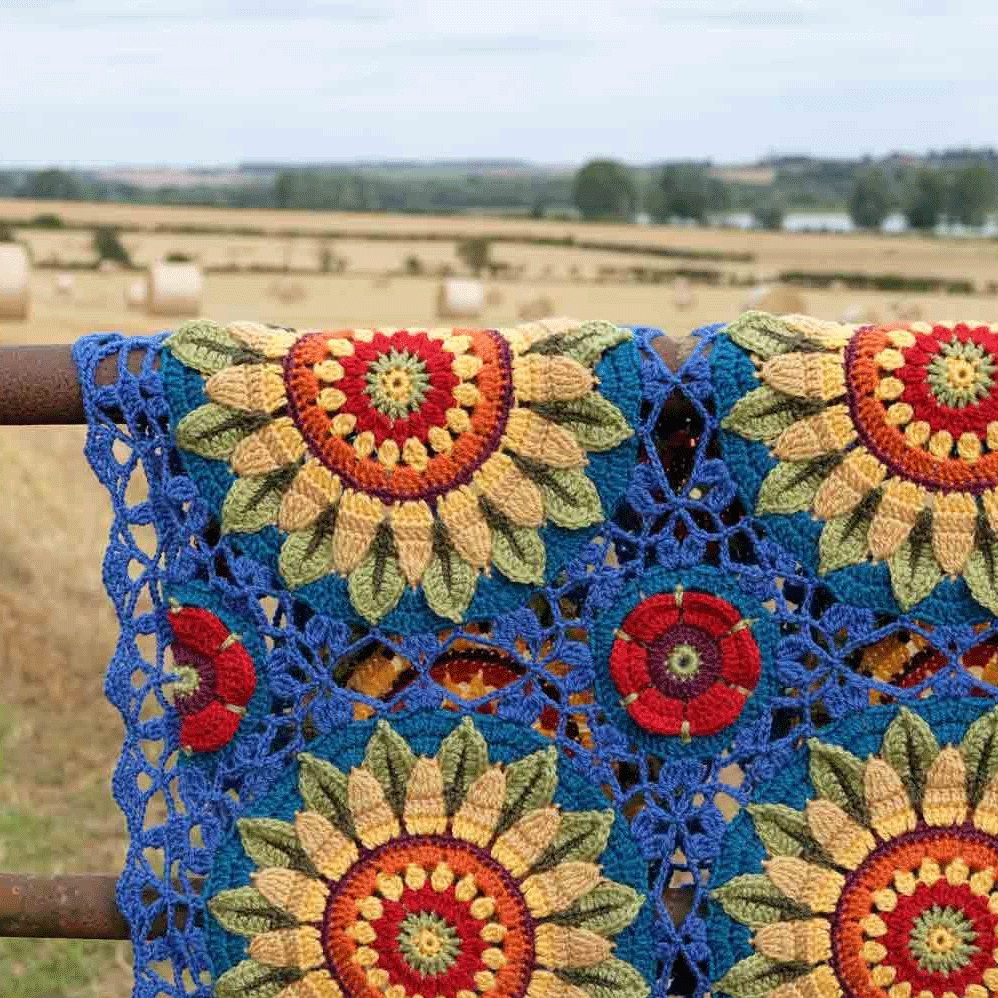 Fields of Gold Crochet Blanket Pattern – Janie Crow product image