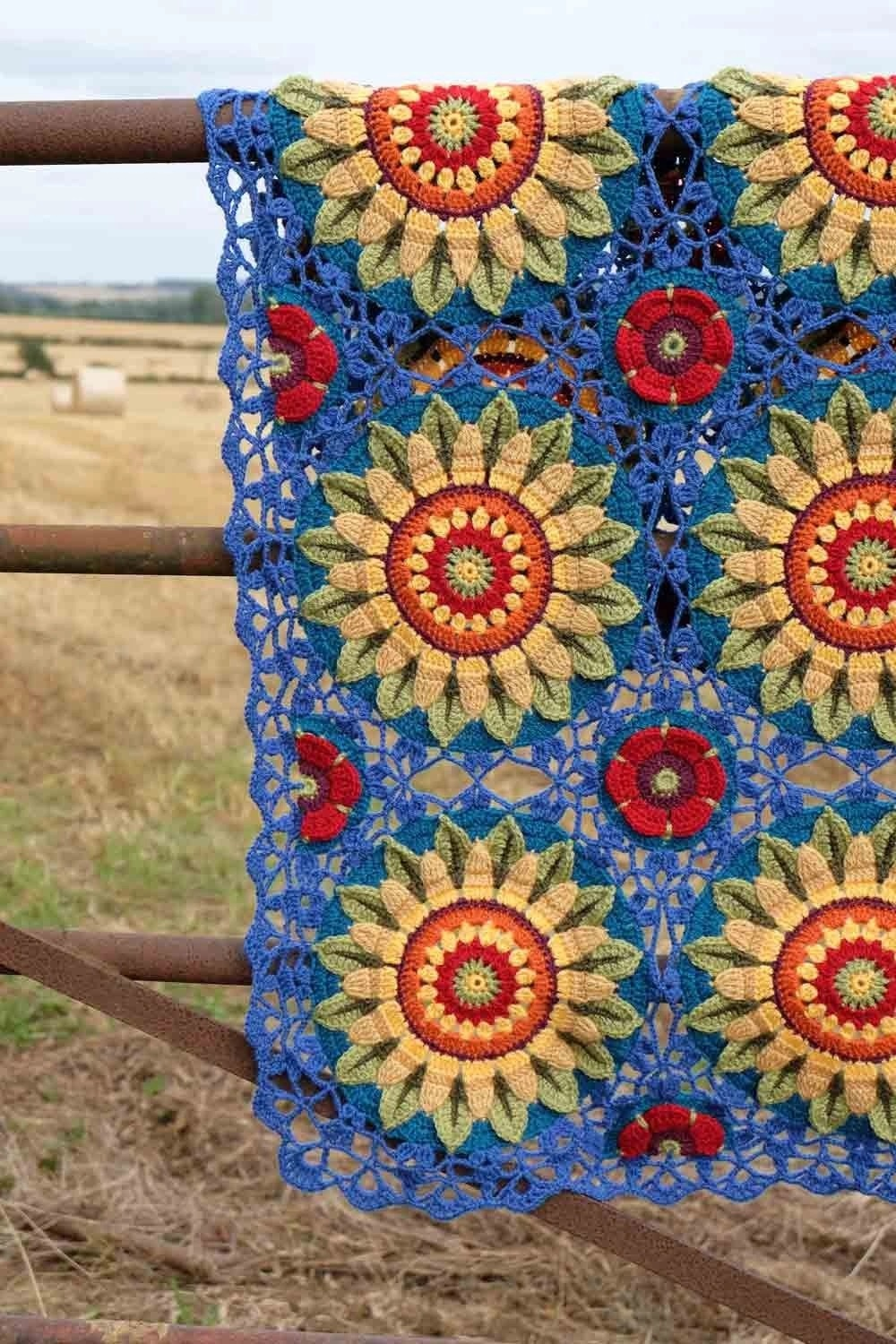 Fields of Gold Blanket Kit – Janie Crow (Yarn Only) product image