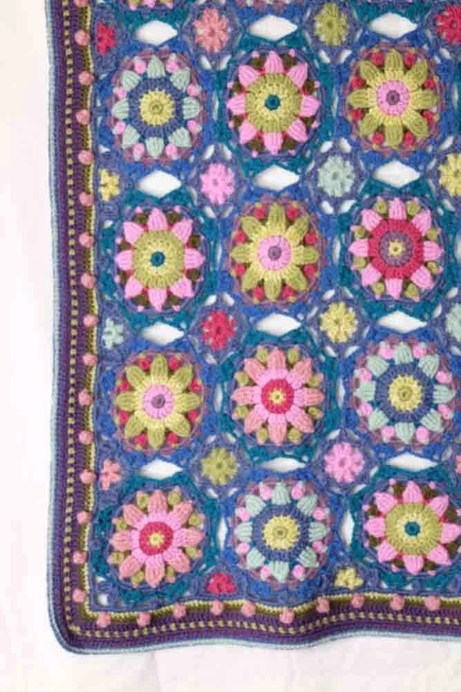Summer Palace Blanket Kit – Blue & Pink Janie Crow (Yarn Only) product image