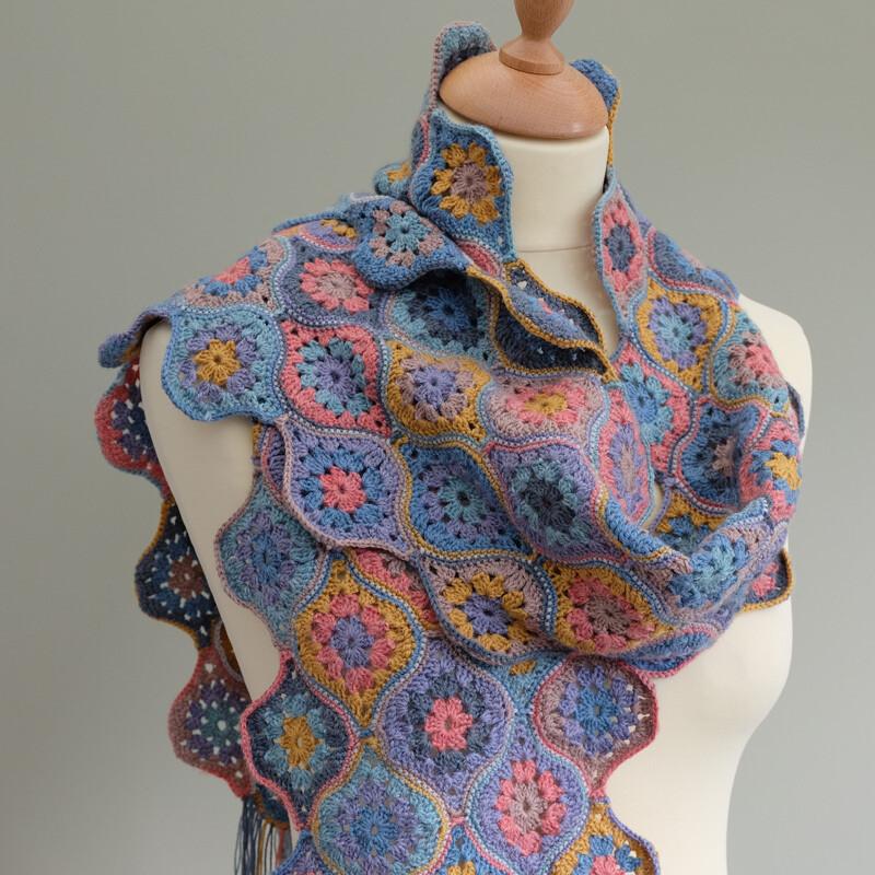 Mystical Lanterns Crochet Scarf Pattern – Janie Crow product image