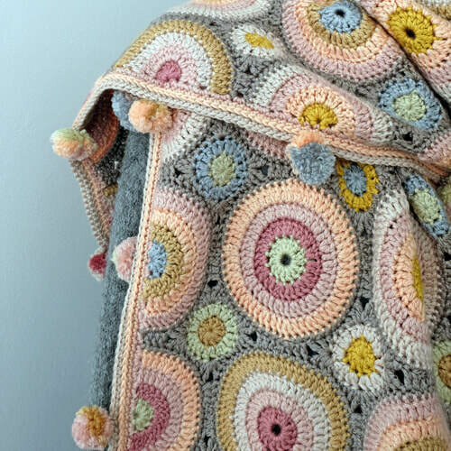 Magic Circles Crochet Scarf Pattern – Janie Crow product image
