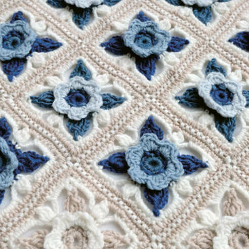 Willow Blossom Crochet Cot Blanket Pattern – Janie Crow product image