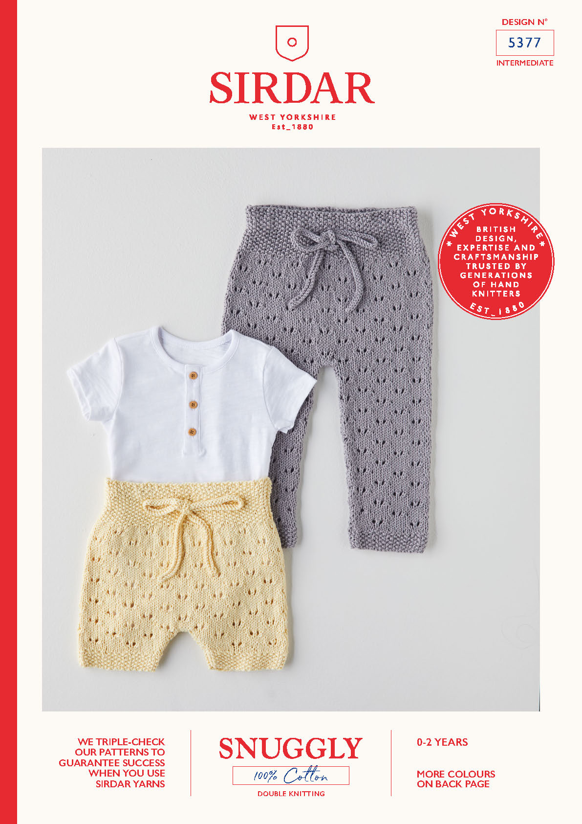 Sirdar Pattern Snuggly 100% Cotton DK 5377 (Download) product image