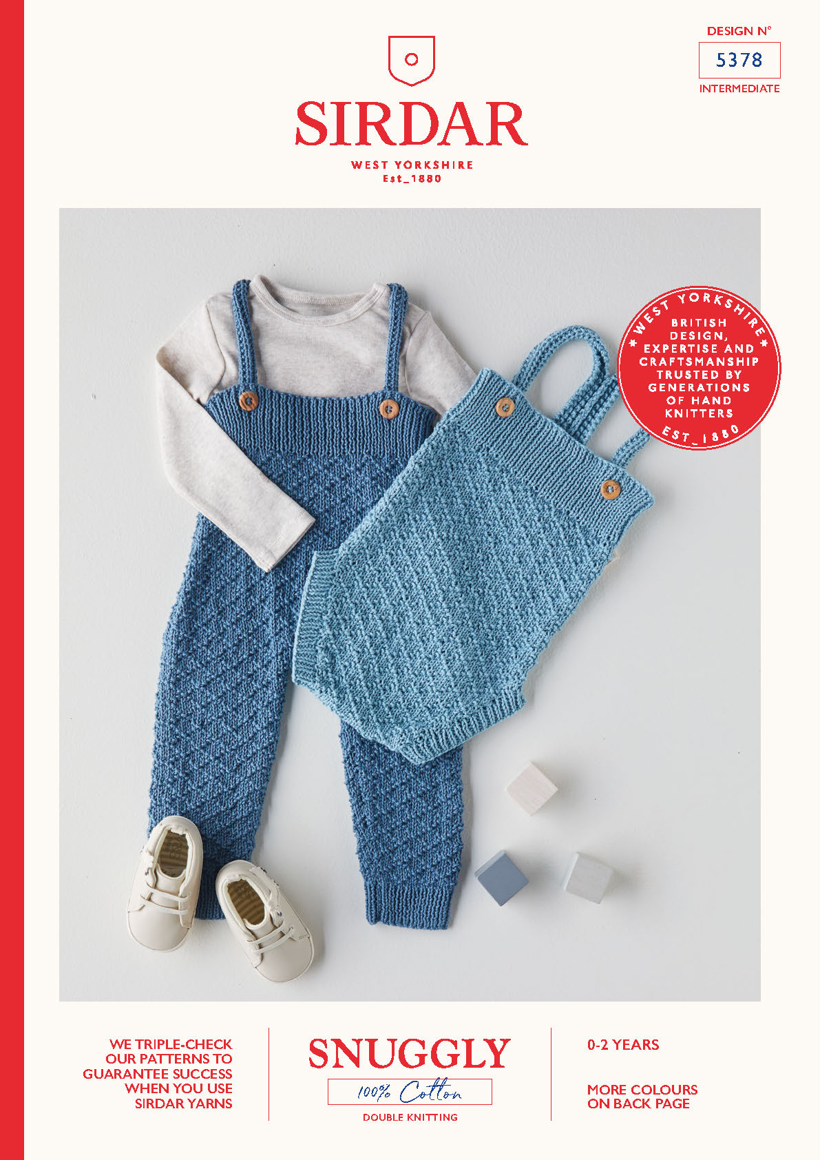 Sirdar Pattern Snuggly 100% Cotton DK 5378 (Download) product image