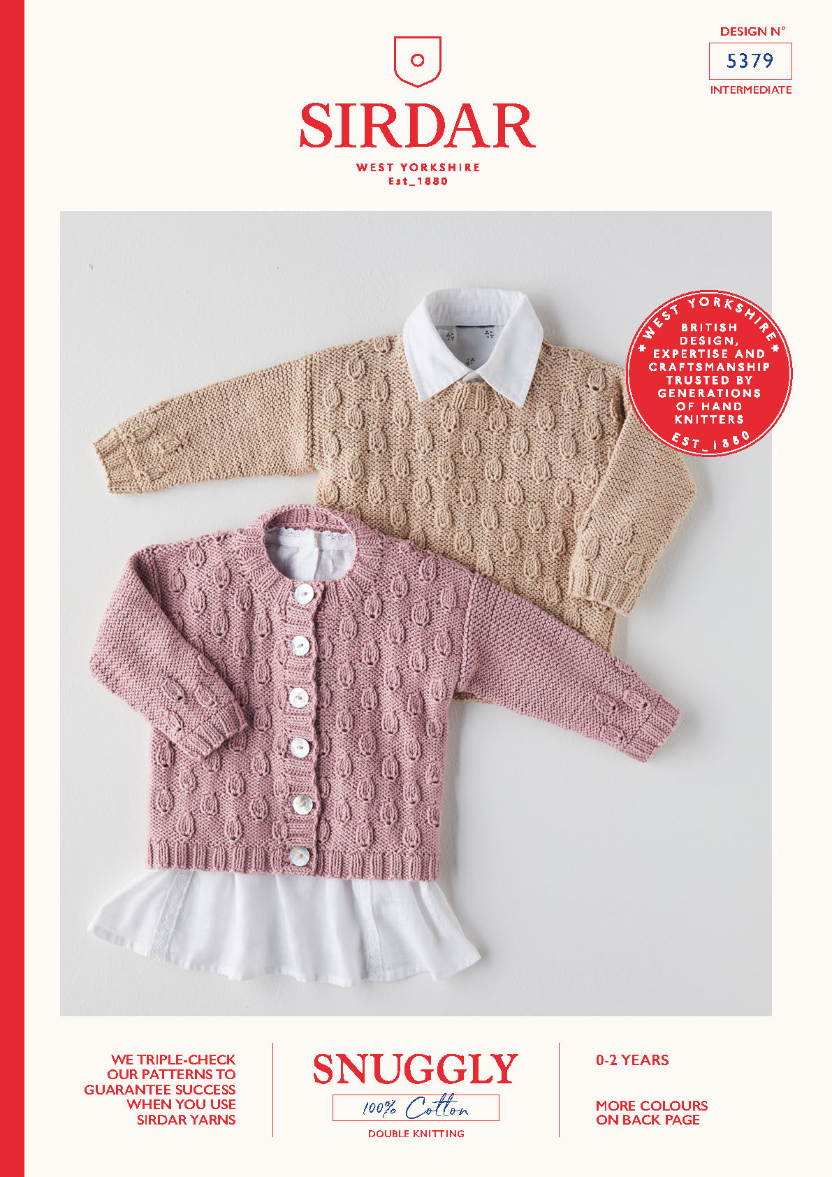 Sirdar Pattern Snuggly 100% Cotton DK 5379 (Download) product image