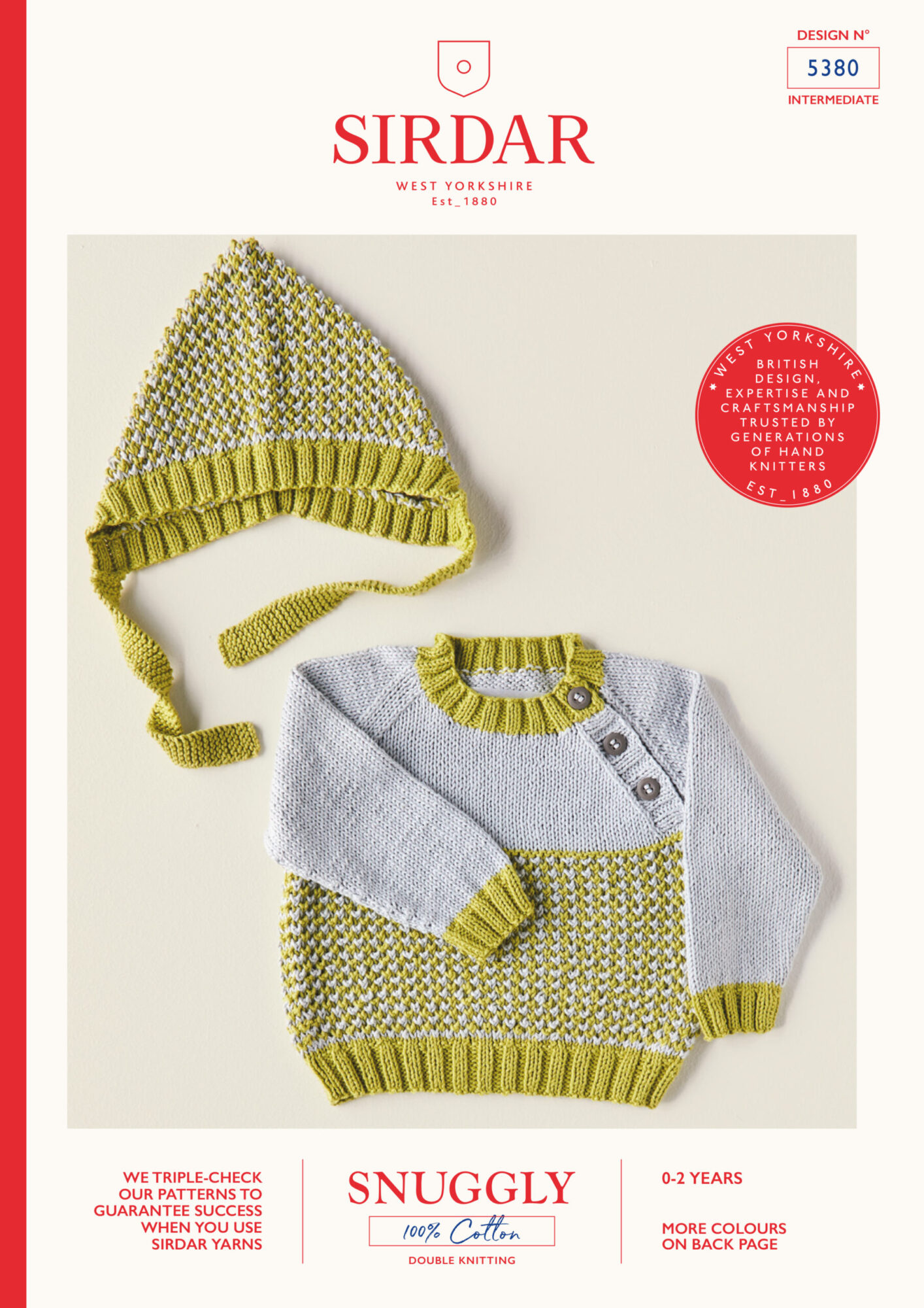 Sirdar Pattern Snuggly 100% Cotton DK 5380 (Download) product image