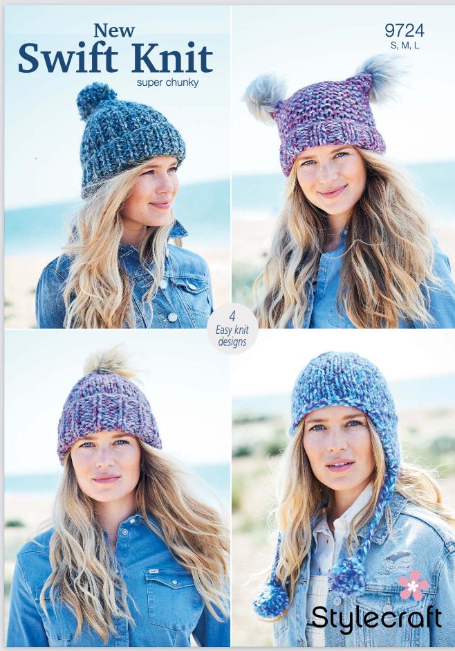 Stylecraft Pattern New Swift Knit Super Chunky 9724 (download) product image