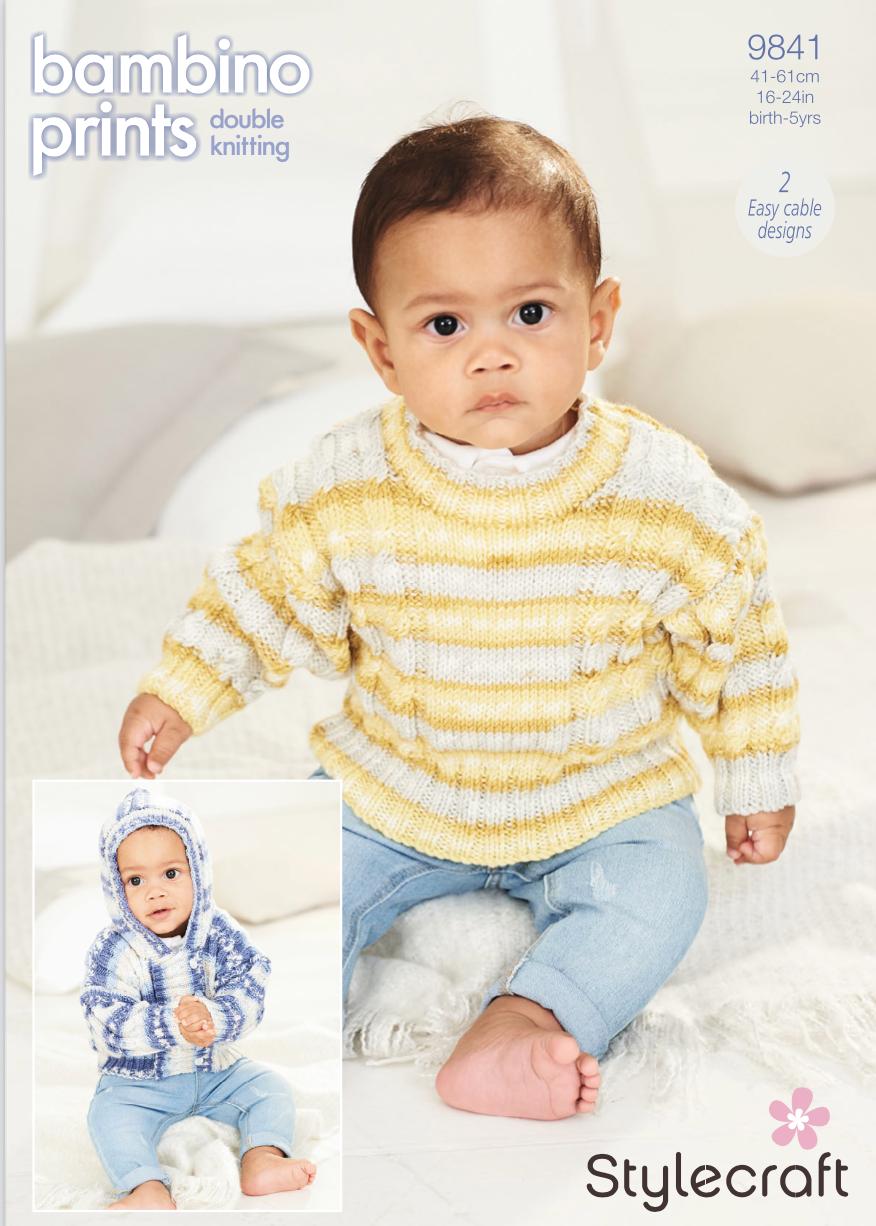 Stylecraft Pattern Bambino Prints DK 9841 (download) product image