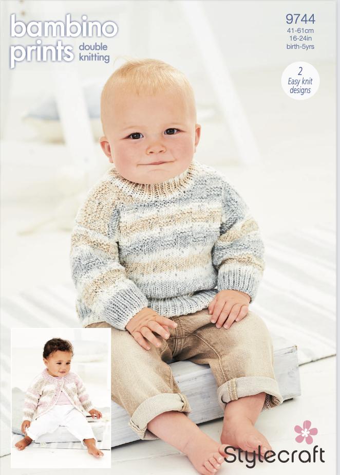 Stylecraft Pattern Bambino Prints DK 9744 (download) product image