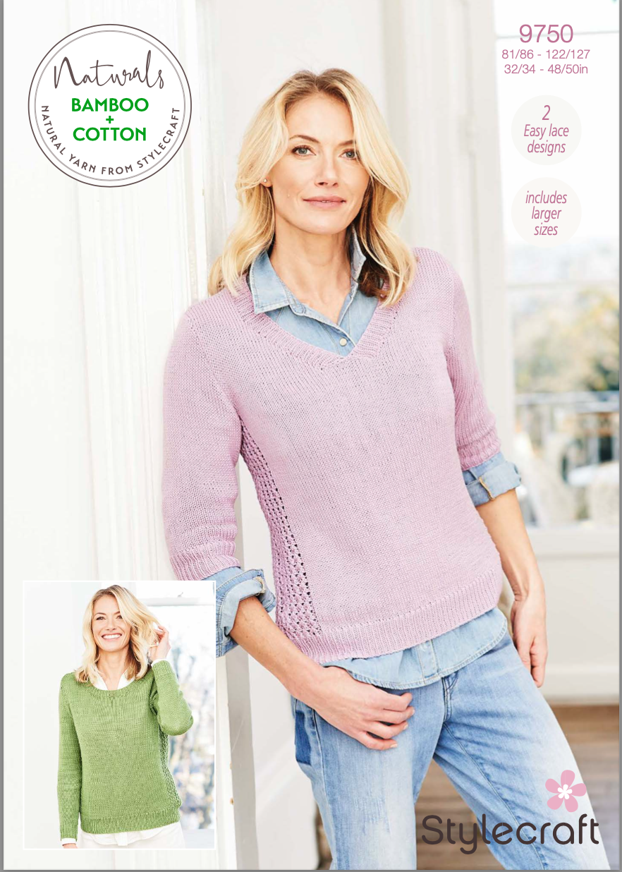 Stylecraft Pattern Naturals Bamboo+Cotton 9750 (download) product image