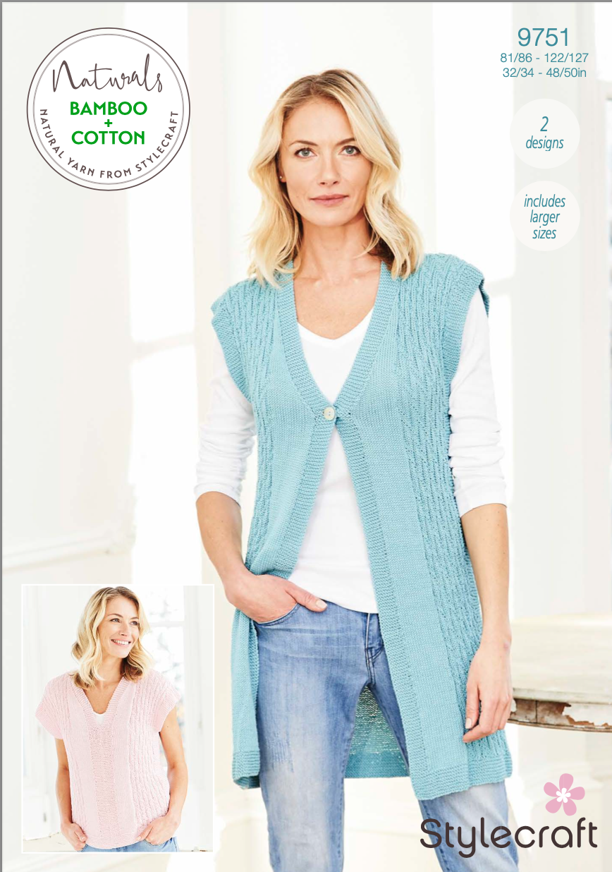 Stylecraft Pattern Naturals Bamboo+Cotton 9751 (download) product image