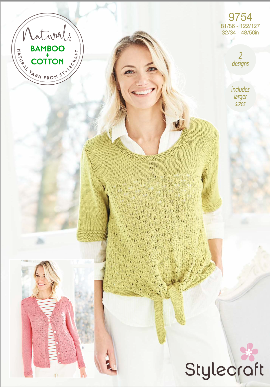 Stylecraft Pattern Naturals Bamboo+Cotton 9754 (download) product image