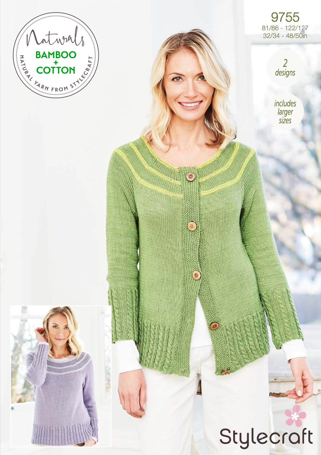 Stylecraft Pattern Naturals Bamboo+Cotton 9755 (download) product image