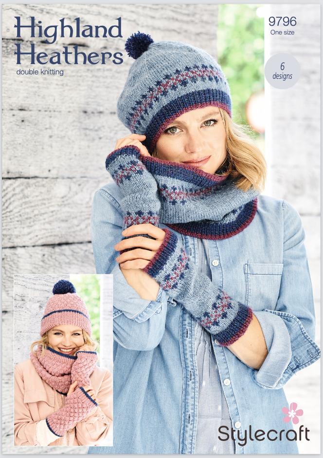 Stylecraft Pattern Highland Heathers 9796 (download) product image
