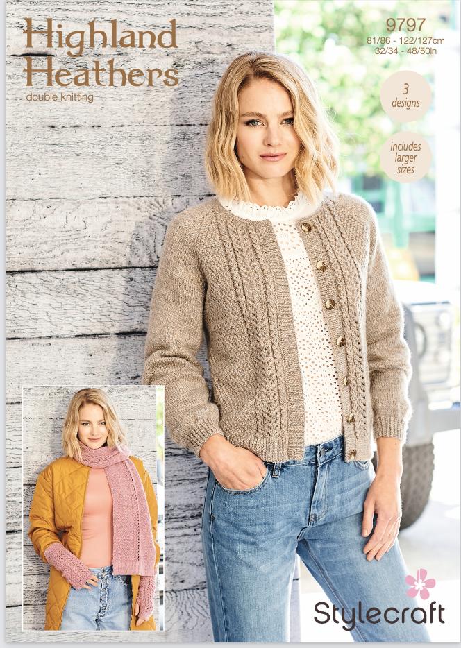 Stylecraft Pattern Highland Heathers 9797 (download) product image
