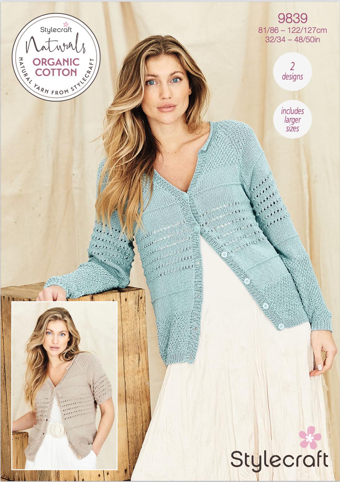 Stylecraft Pattern Naturals Organic Cotton 9839 (download) product image