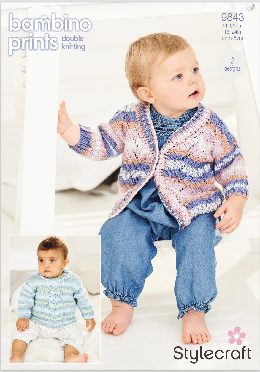 Stylecraft Pattern Bambino Prints DK 9843 (download) product image