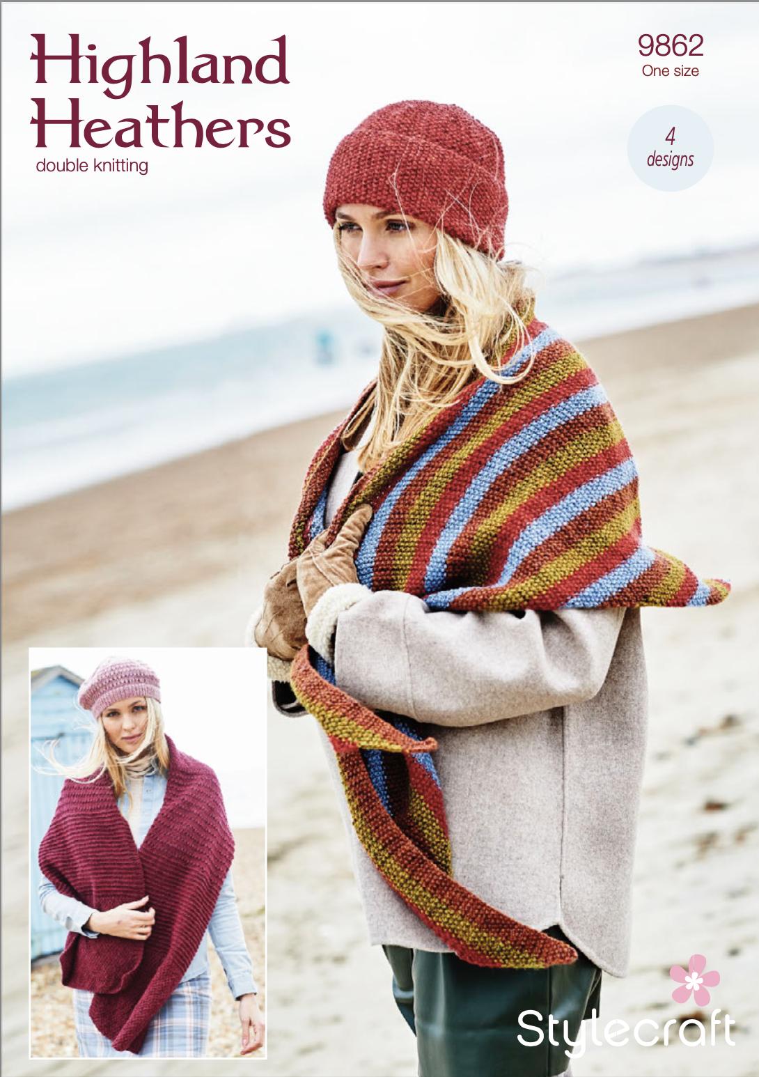 Stylecraft Pattern Highland Heathers 9862 (download) product image