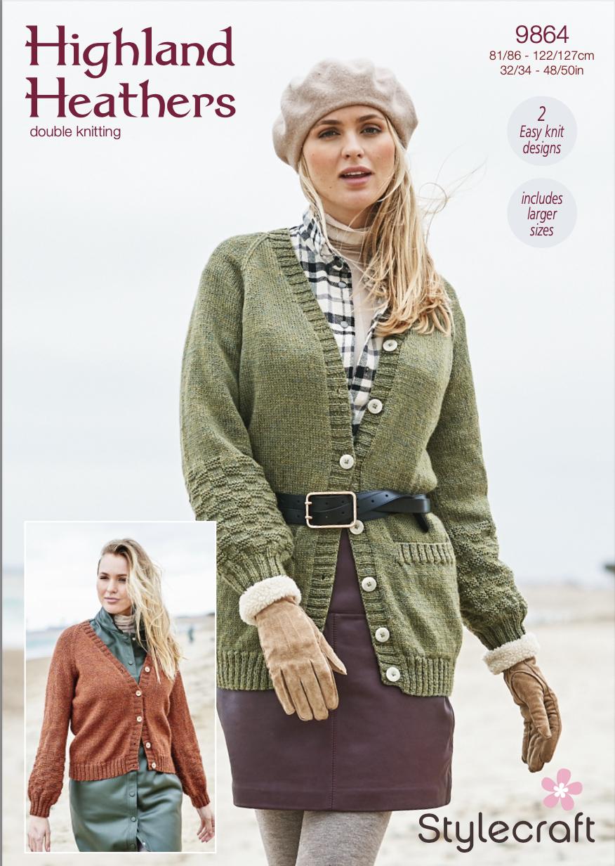 Stylecraft Pattern Highland Heathers 9864 (download) product image