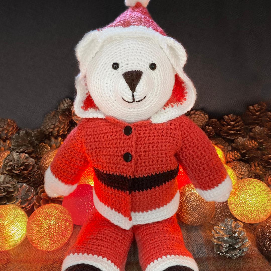 West Yorkshire Spinners Bo Peep DK – Bo Bear Santa Suit Crochet Pattern product image