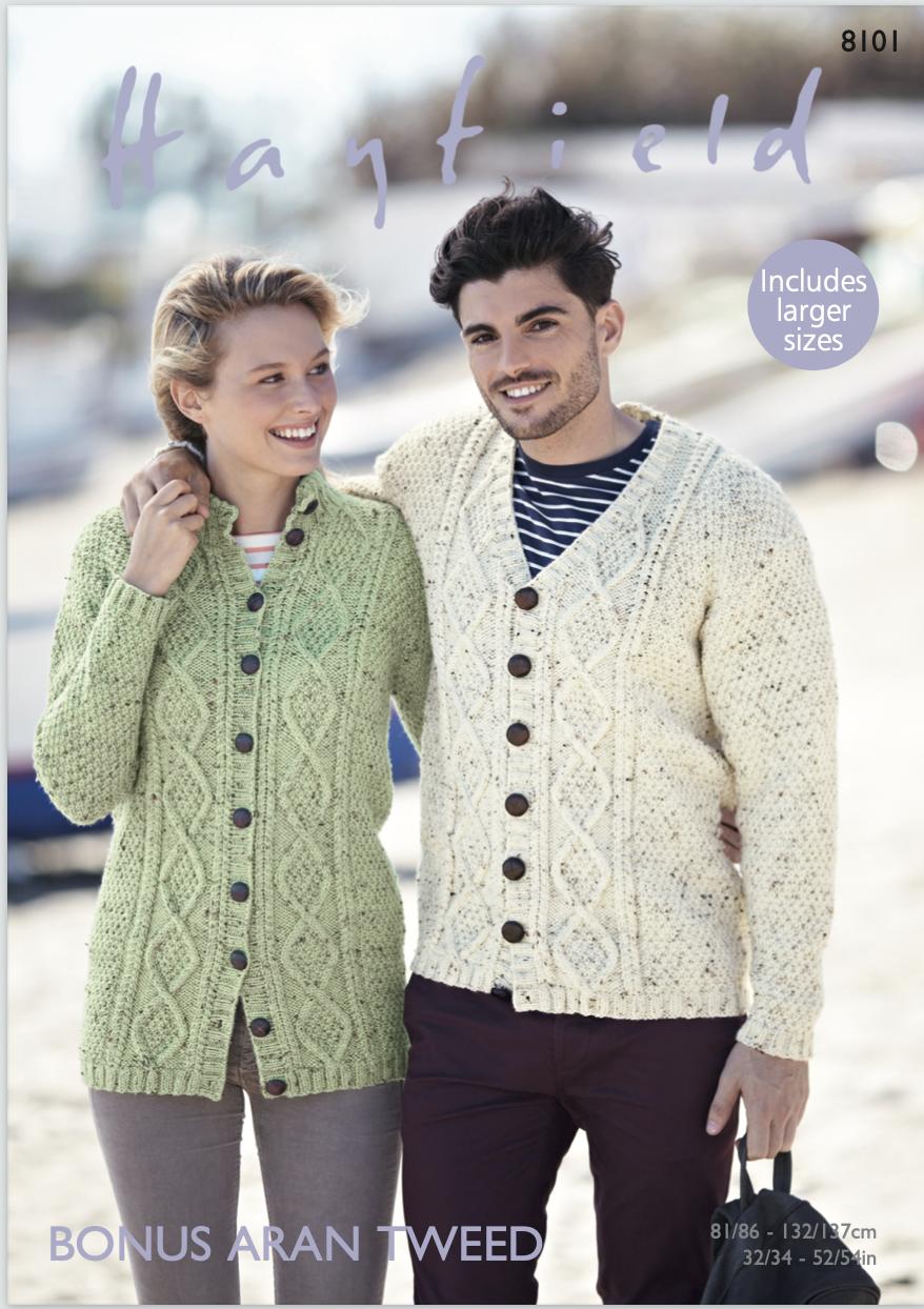 Sirdar Hayfield Aran Tweed Pattern 8101 (Download) product image