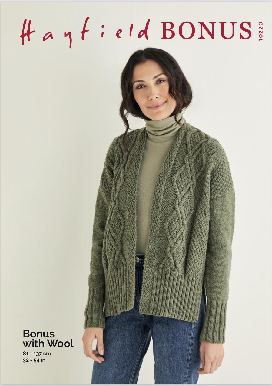 Sirdar Hayfield Aran Tweed Pattern 10220 (Free Download) product image