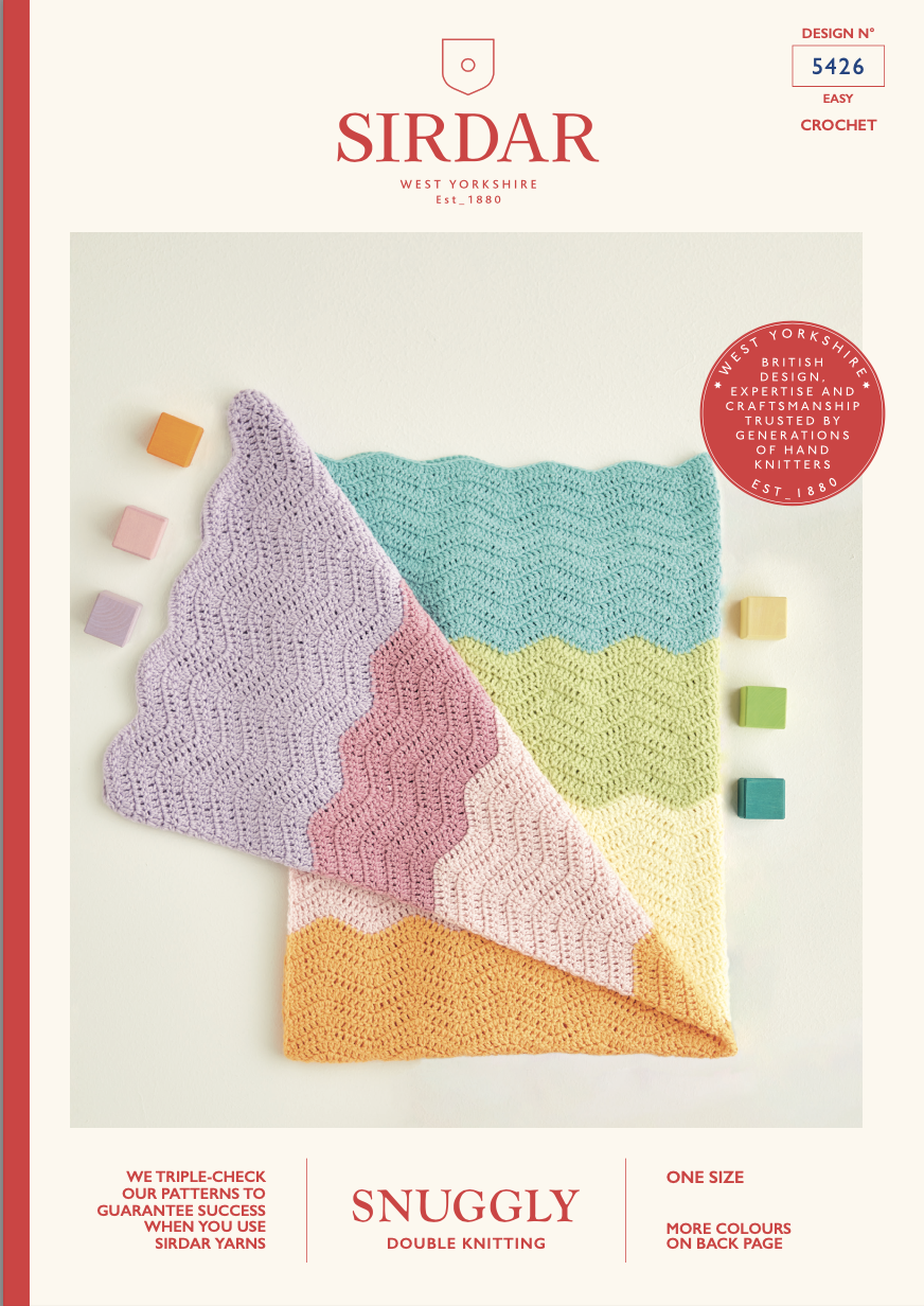 Sirdar Snuggly DK Crochet Baby Blanket Pattern 5426 (free download) product image