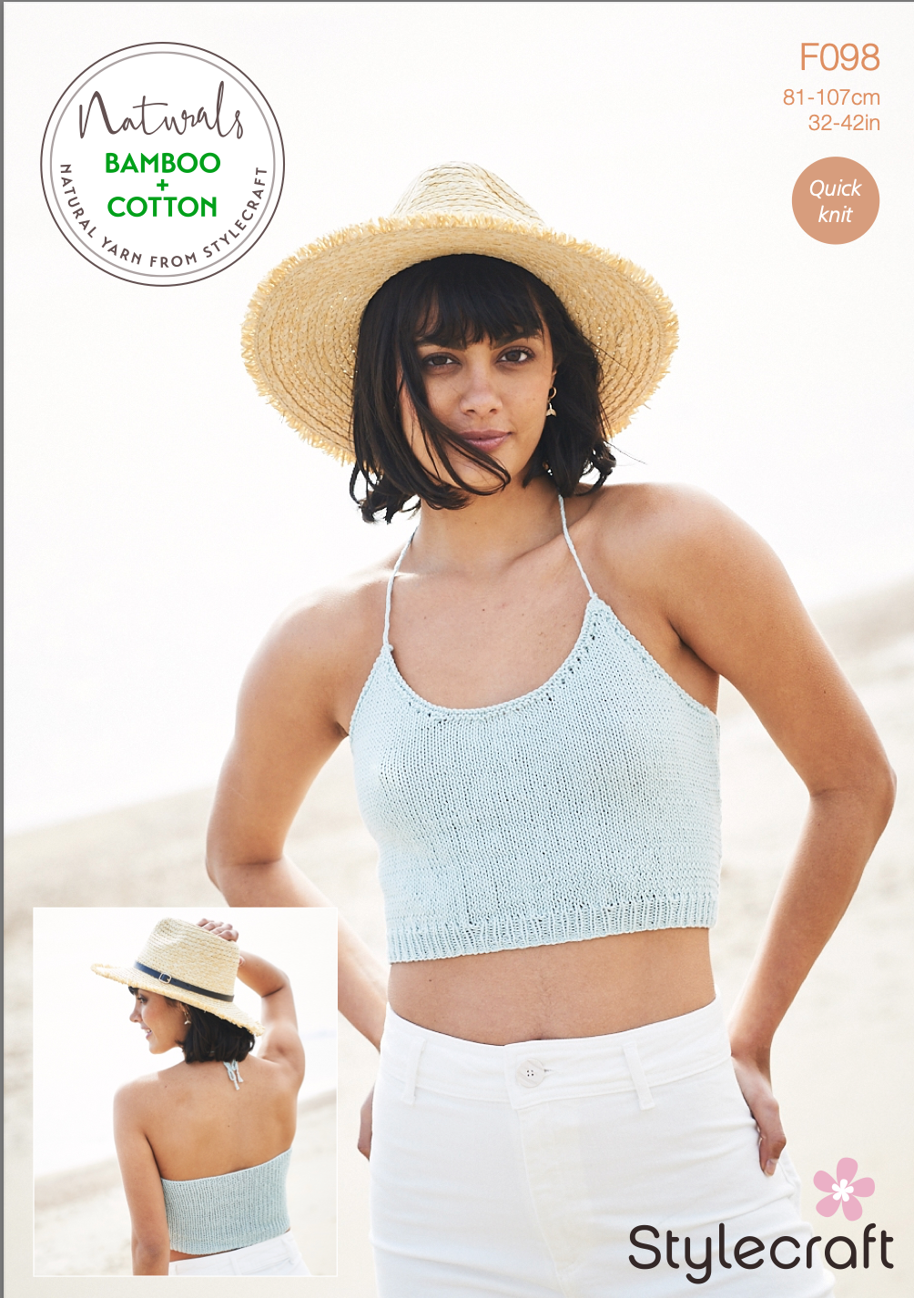 Stylecraft Naturals Bamboo + Cotton Cropped Top Pattern (free download) product image