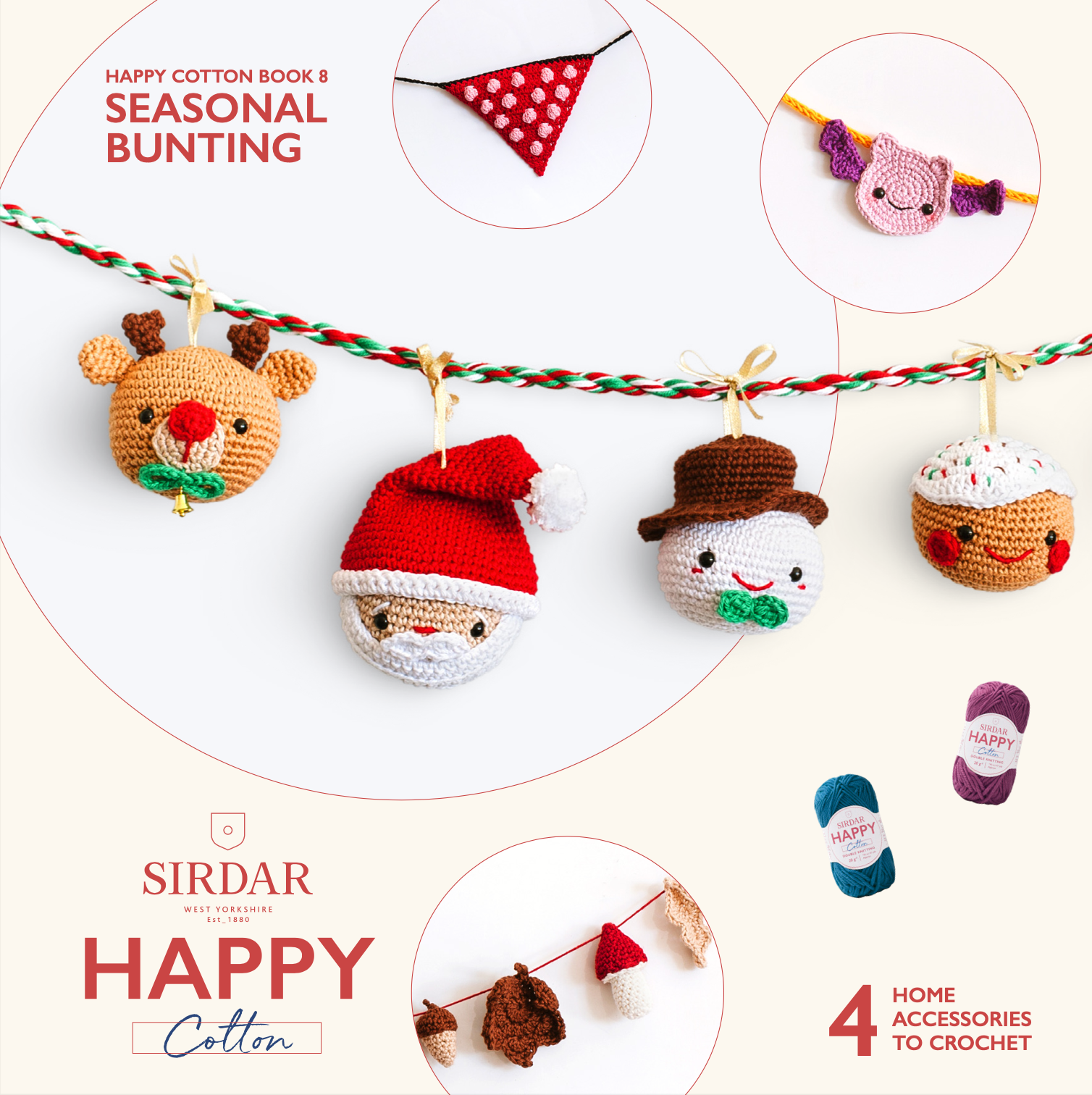 Sirdar Happy Cotton Book 8 Seasonal Bunting (free download) product image