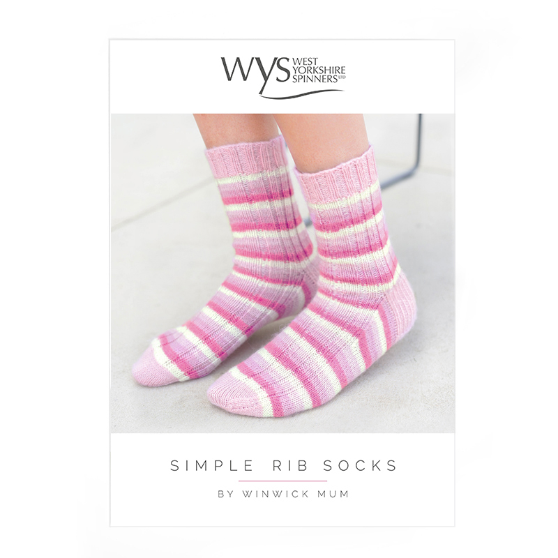 West Yorkshire Spinners Signature 4ply – Simple Rib Socks Pattern product image
