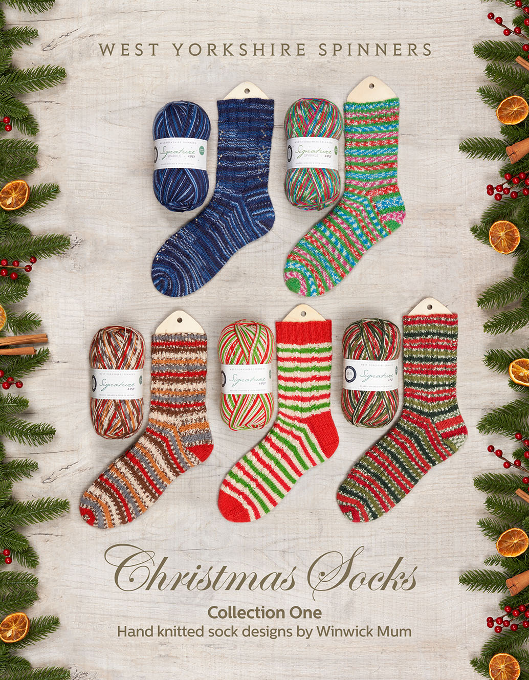 West Yorkshire Spinners Christmas Socks – Collection One : Pattern Book product image