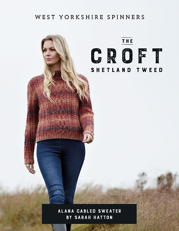West Yorkshire Spinners The Croft Wild Shetland Aran Roving – Alana Cabled Sweater Pattern product image