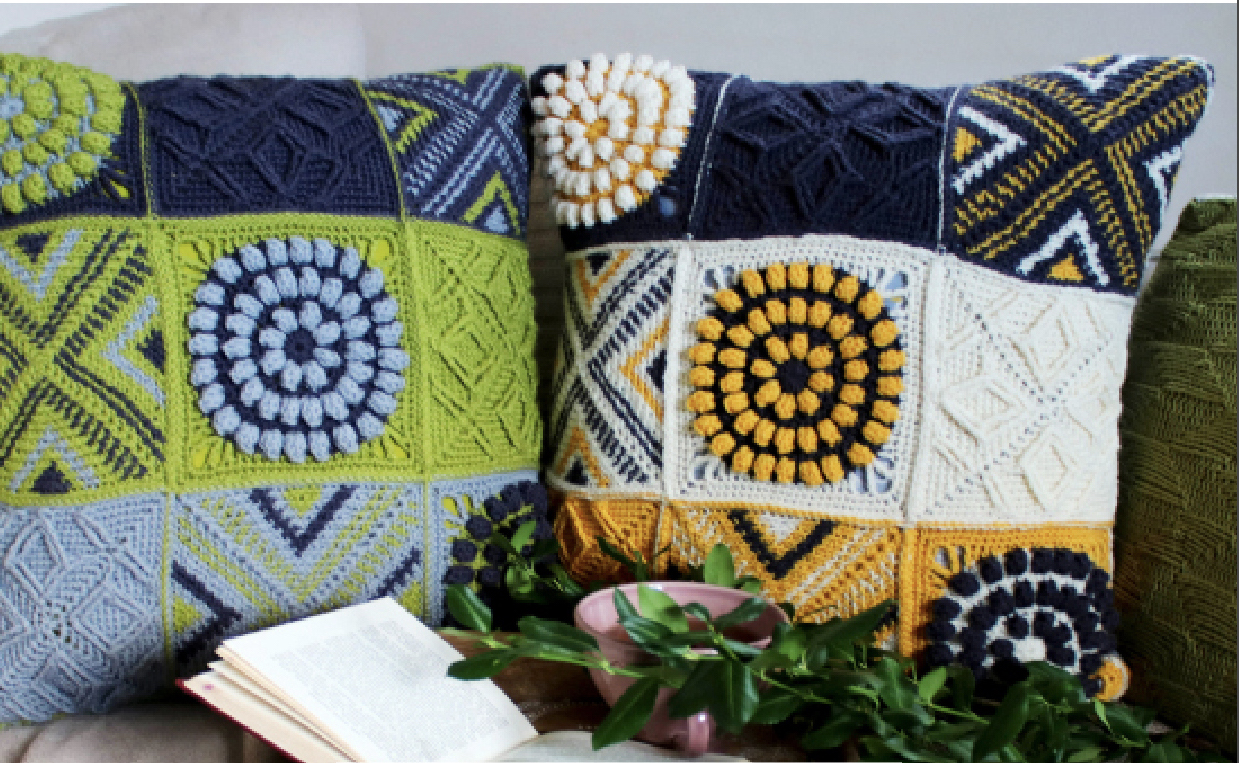 West Yorkshire Spinners Anna Nikipirowicz Crochet Cushion Pattern (Free Download) product image