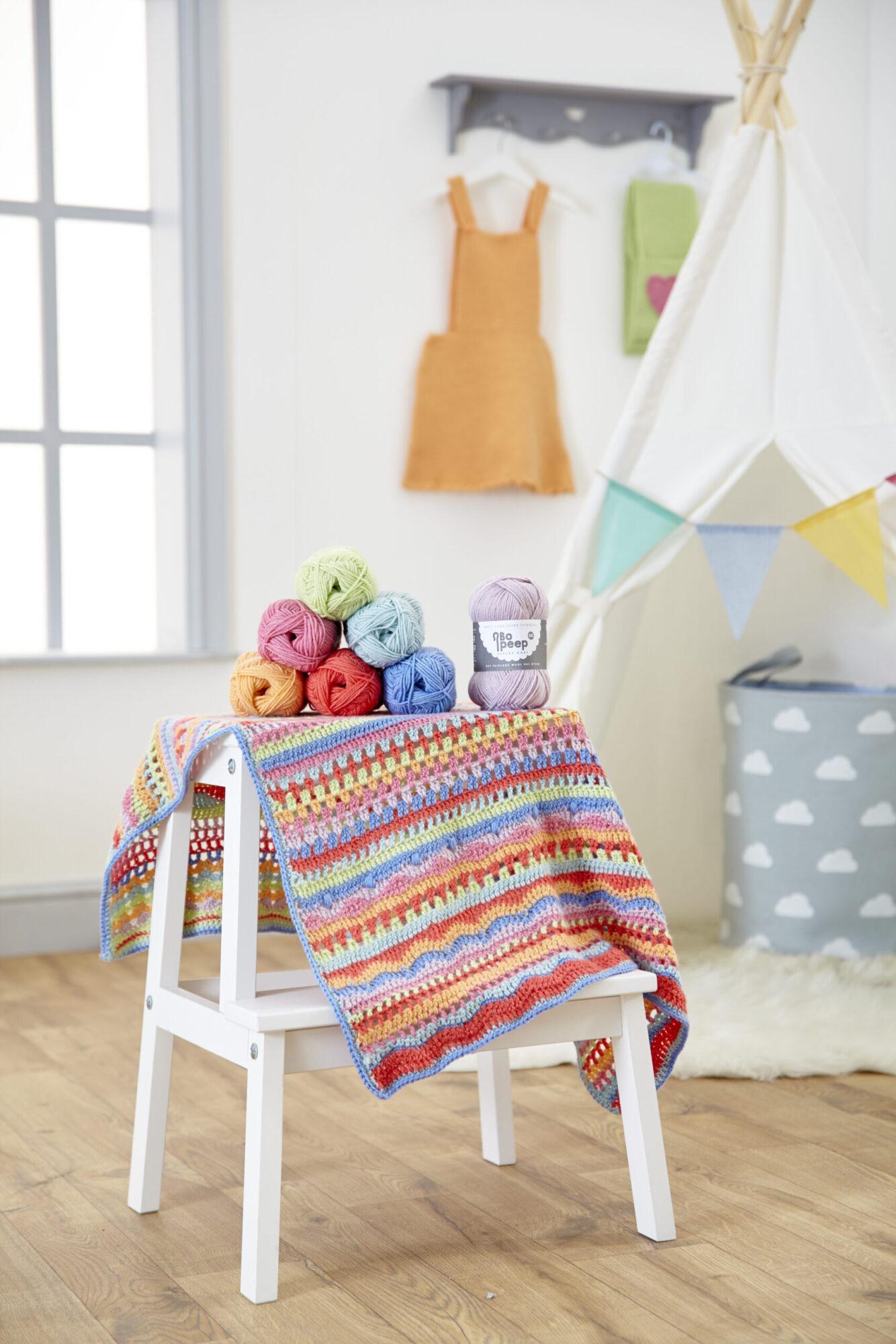 West Yorkshire Spinners Bo Peep DK – Crochet Carousel Baby Blanket Pattern product image