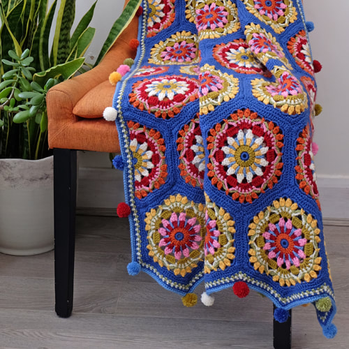 The Blue House Crochet Blanket Pattern – Janie Crow product image