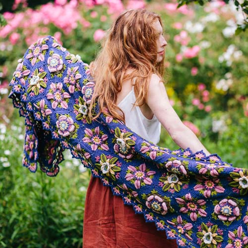 The Climbing Rose Wrap Crochet Pattern – Janie Crow product image