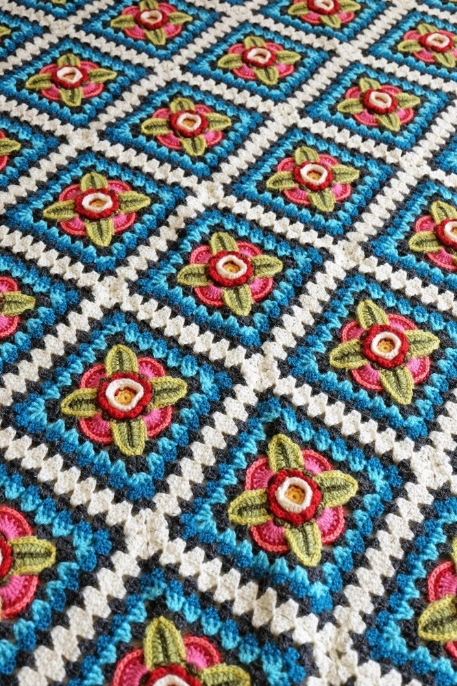 Mexican Diamonds Blanket Kit – Janie Crow (Yarn Only) product image