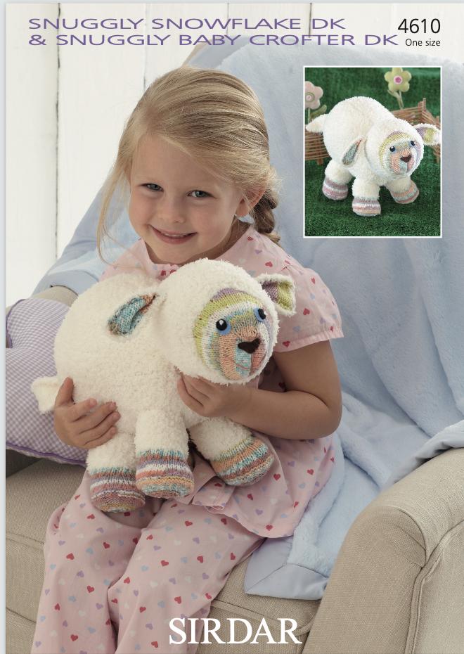 Sirdar Pattern Lamb Toy – Snowflake DK & Crofter DK 4610 (download) product image